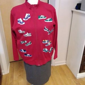 Bechamel small knit red jacket